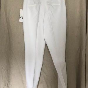 Zara white mid rise tuxedo pants, size medium, NWT